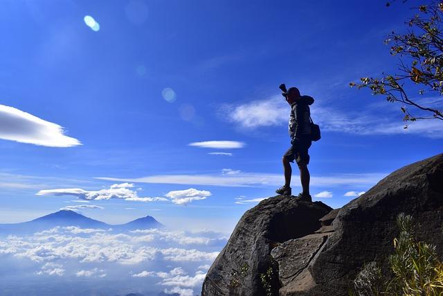 free photo adventure journey mountain hiking travel summer