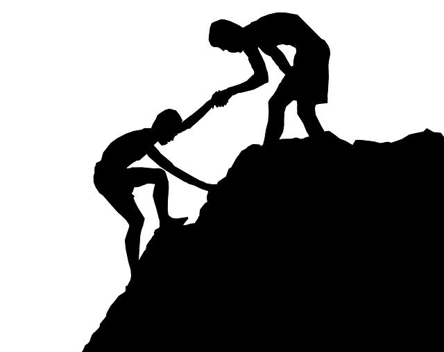 Help, Climbing, Hand, Mentor, Adventure, Mountain