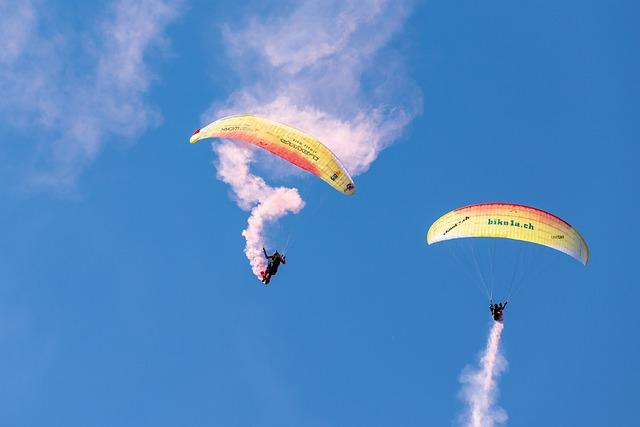 Parachute, Paragliding, Flugshow, Adventure, Sport