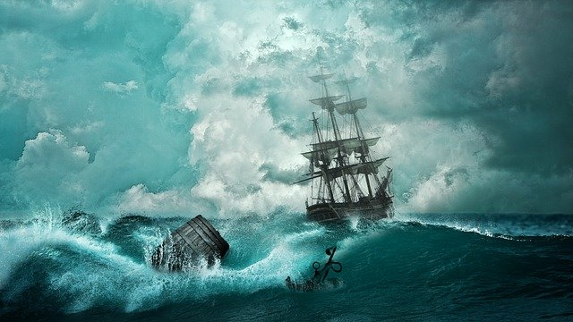 Ship, Shipwreck, Adventure, Setting, Boot, Mysticism