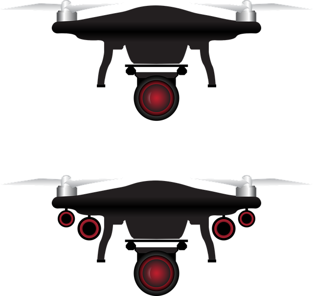 Drone, Vector, Icon, Camera, Aerial, Remote, White