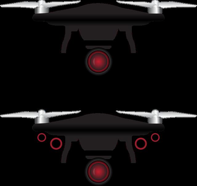 Drone, Vector, Icon, Camera, Aerial, Remote, White