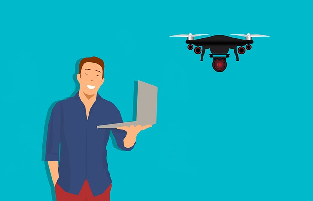 Drone, Camera, Laptop, Aerial, Aircraft, Aviation, Man