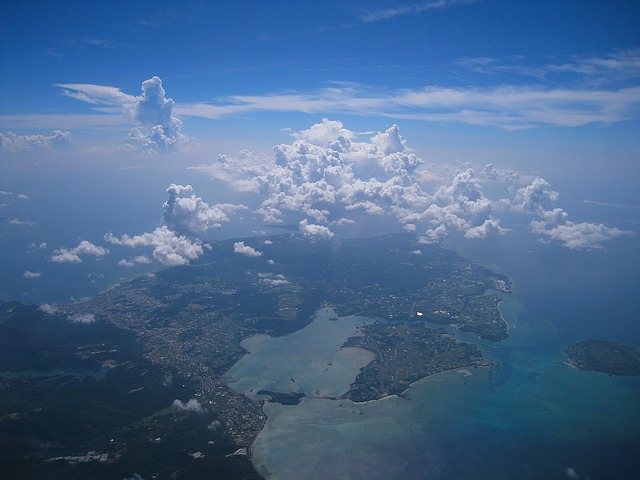 Aerial Photograph, Cloud, Sea, Sky, White, Blue