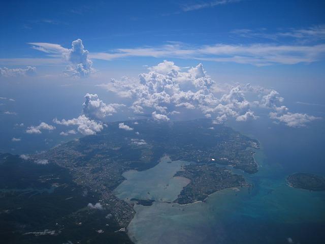 Aerial Photograph, Cloud, Sea, Sky, White, Blue