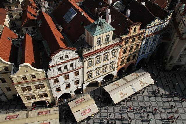Buildings, Prague, Czech, Town, Tourist, Aerial