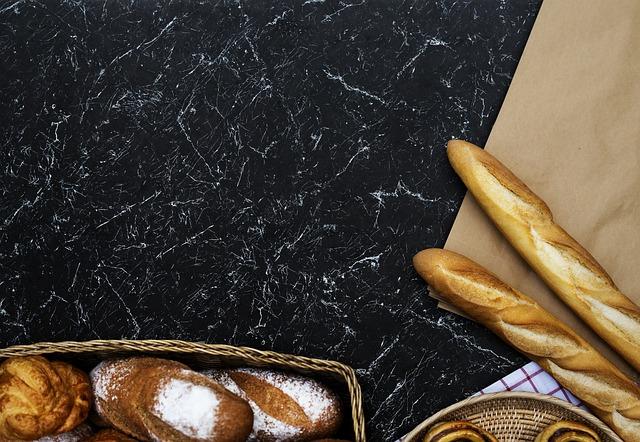 Food, Desktop, Bakery, Bread, Aerial View, Baguette