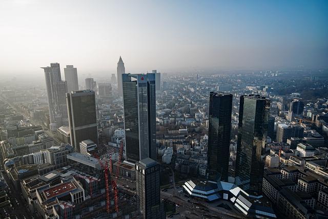 Frankfurt, Hesse, Germany, Main Tower, Aerial View
