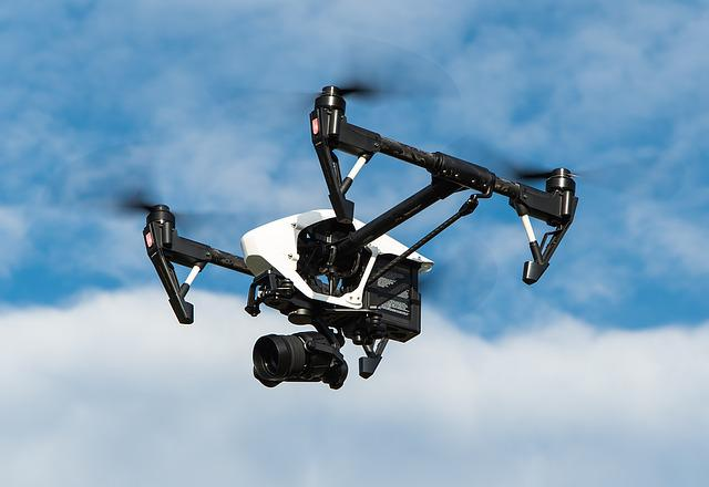 Drone, Multicopter, Dji, Inspire, Aerial View, Camera