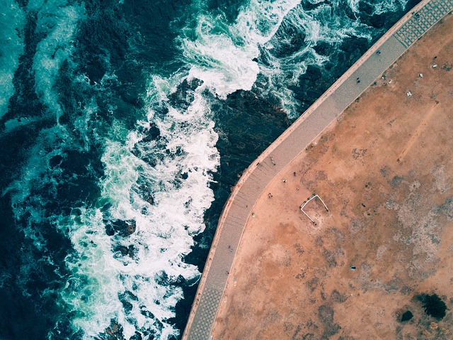 Drone, Waves, Aeriel, Aerial, Earth, Flat, Depth, Path