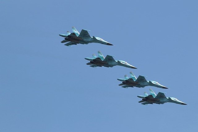 Plane, Military, Aerobatics, Higher, Fleet, Air, Parade