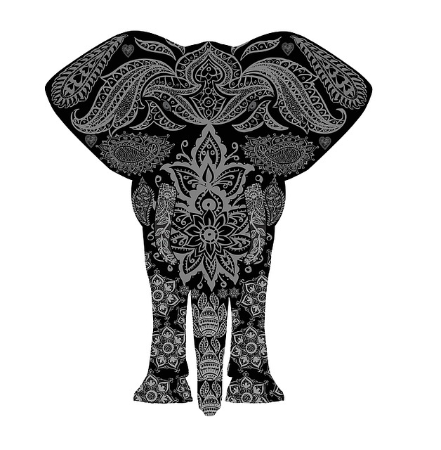 Elephant, Pattern, Africa, Decoration, Decorative, Holi