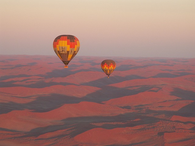 Travel, Namibia, Desert, Ballooning, Sand, Africa
