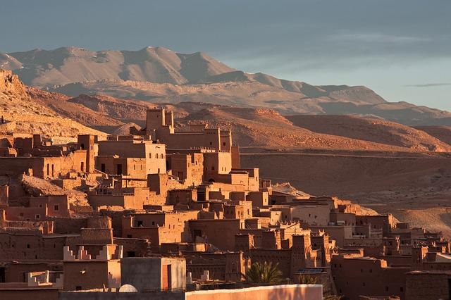 Morocco, Africa, Village, Mountains, House, Pise, Red