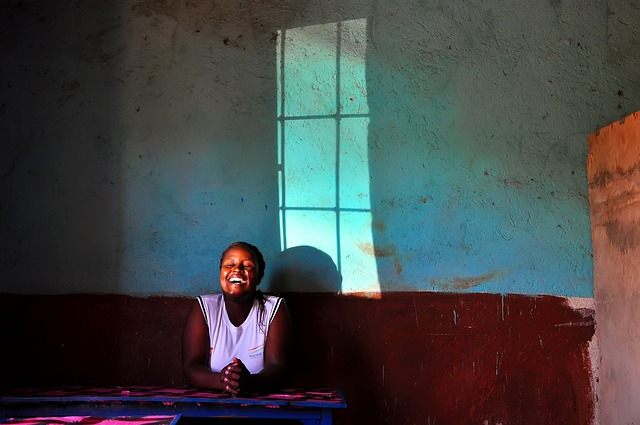 Africa, Laugh, Window, Woman, Friendly