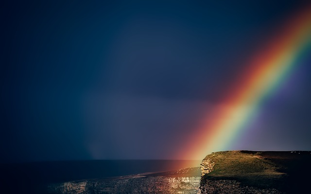 Wales, England, Rainbow, After Storm, Colorful