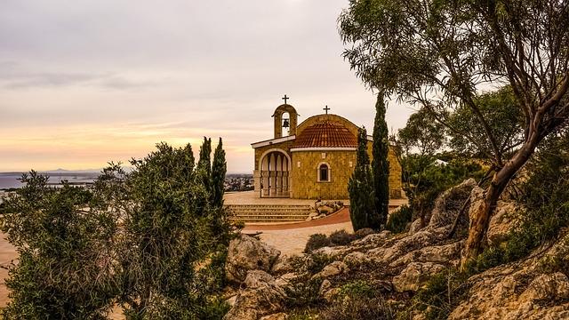Church, Landscape, Scenery, Afternoon, Ayios Epifanios