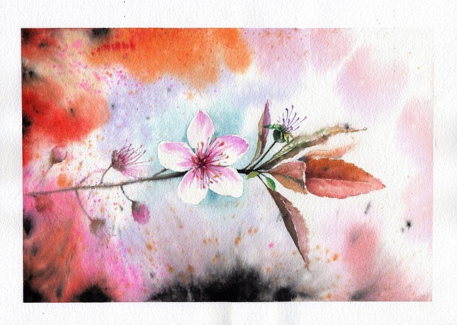 Again, Peach Flowers, Flowers, Watercolor Flowers