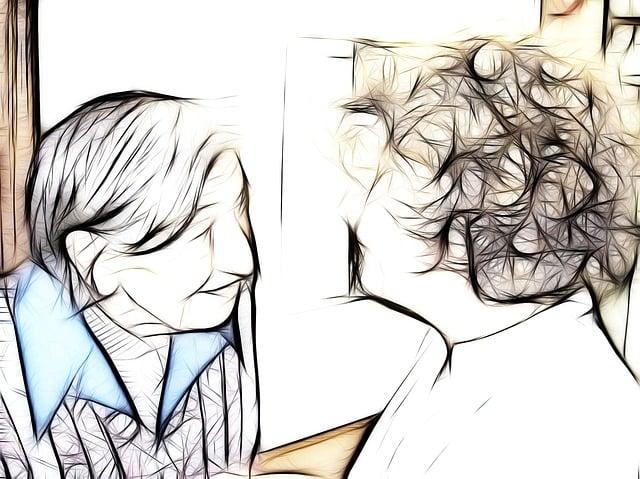 Dependent, Dementia, Woman, Talk, Caregiver, Old, Age