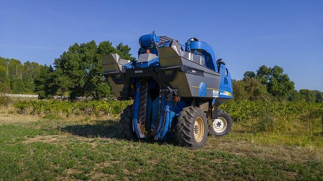 Harvest, Agricultural Machine, Grape Harvesting Machine
