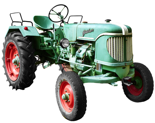 Isolated, Güldner, Tractors, Agricultural Machine