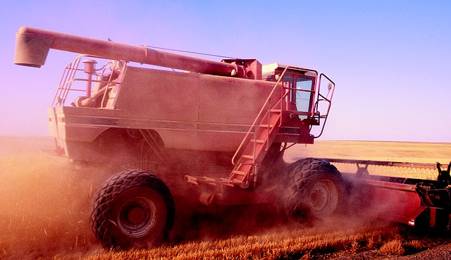 Agriculture, Combine Harvester, Vehicle, Harvest