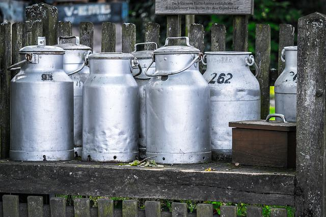 Milk Cans, Jugs, Milk, Agriculture, Dairy Farming