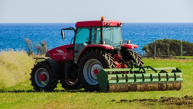 Tractor, Field, Rural, Agriculture, Farm, Equipment