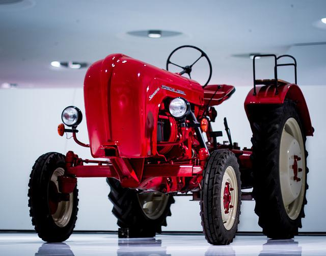 Tractor, Red, Agriculture, Farm, Industry, Agricultural
