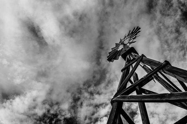 Windmill, Farm, Agriculture, Rural, Tower, Countryside
