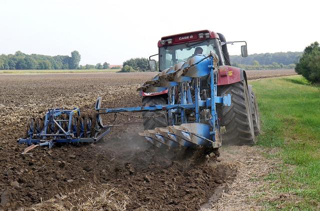 Plow, Tractors, Münsterland, Agriculture, Kombi Plow