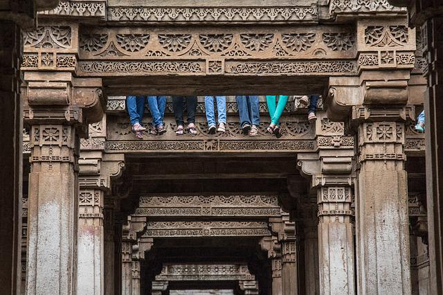 Stepwell, Ahmedabad, Gujarat, Architecture, Indian