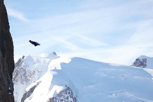 Aiguille Du Midi, Wingsuit, Mountains, Chamonix