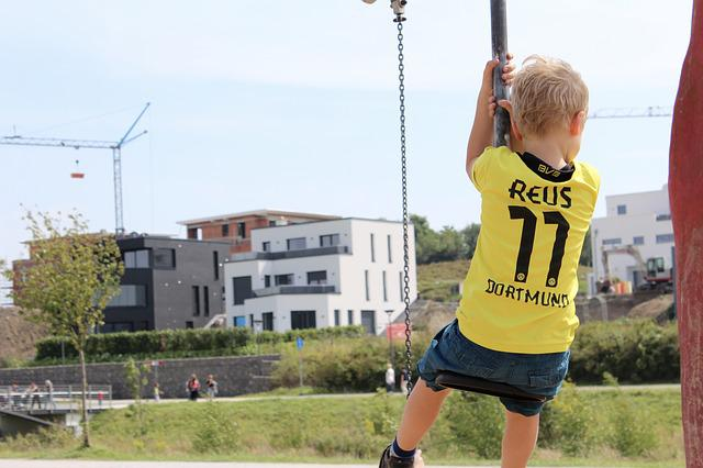Child, Bvb, Rock, Air, Playground