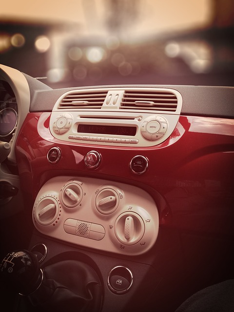 Air Conditioner, Board, Auto, Fiat 500, Small Car
