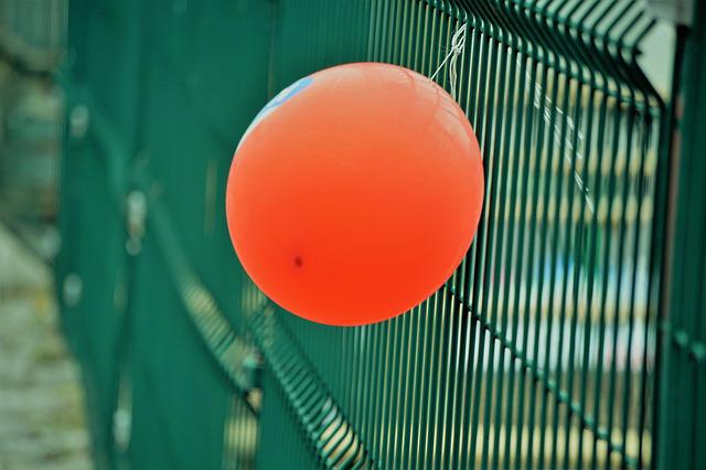 Balloons, Helium, Air, Red, Fair, Green