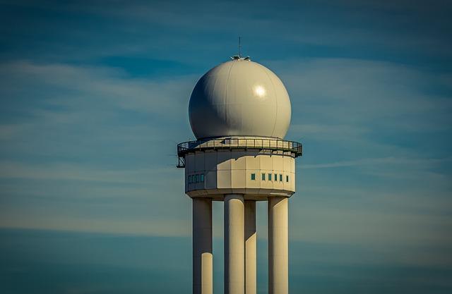 Radar Tower, Radar, Air Traffic Controllers, Sky, Blue