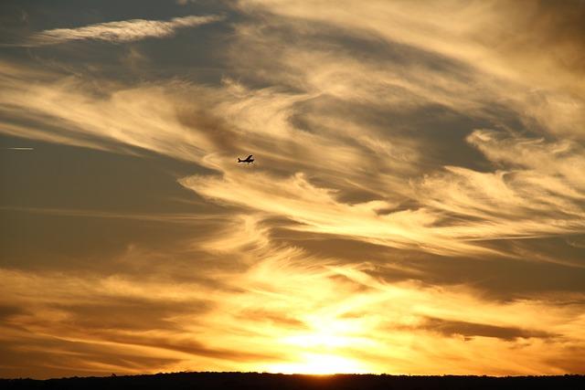 Plane, Sunset, Airplane, Sky, Travel, Flight, Aircraft