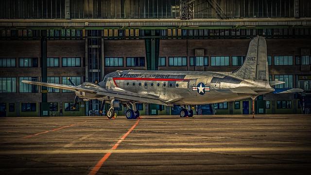 Aircraft, Airfield, Runway, Airport, Berlin, Aviation