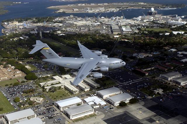 Aircraft, Jet, C-17 Globemaster Iii, Flight, Flying