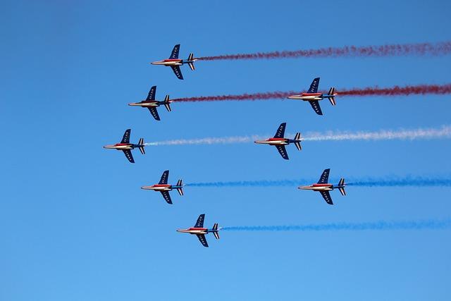 Aircraft, Flight, Military, Jet Plane, Patrol Of France