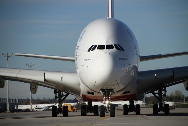 Airbus, A380, Emirates, Munich, Airport, Aircraft