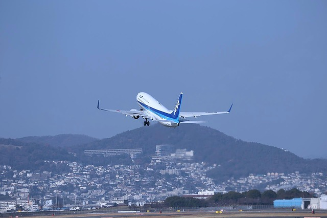 Japan, Osaka, Airplane, Aircraft, Blue Sky, Boeing 737