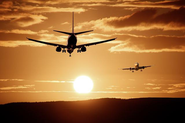 Aircraft, Landing, Reach, Injection, Sky, Silhouette