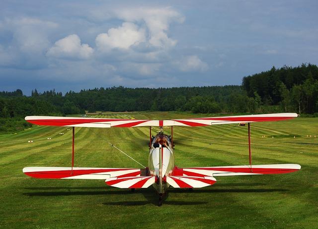 Sport Aircraft, Aircraft, Runway, Meadow, Glider Pilot