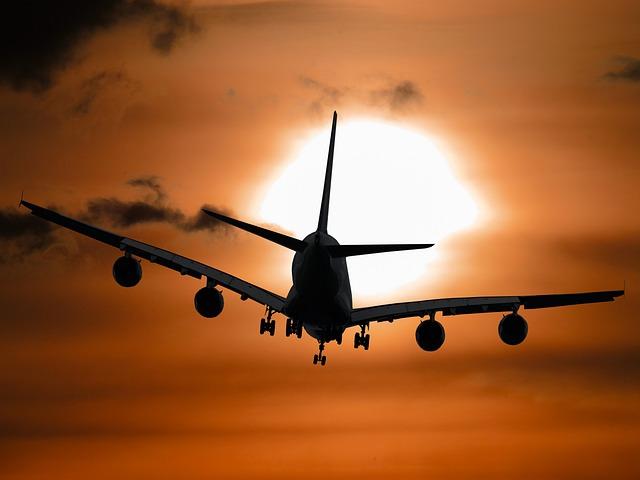 Aircraft, Vacations, Sun, Tourism, Summer