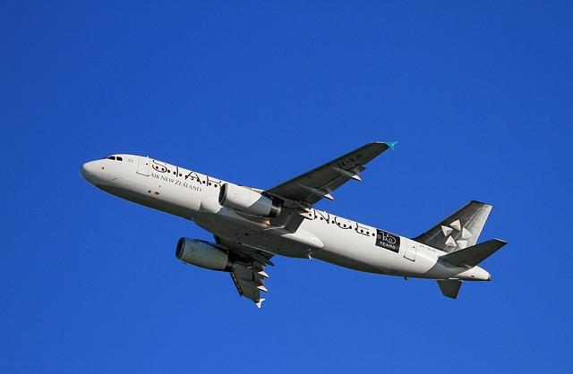 Aircraft Take-off, Air New Zealand, Airbus, A320