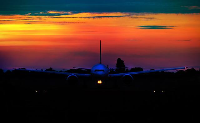 Sunset, Airline, Aircraft, Travel, Air, Transport