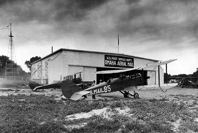 Omaha, Airfield, Airplain, Hangar, America, 1940s, Usa