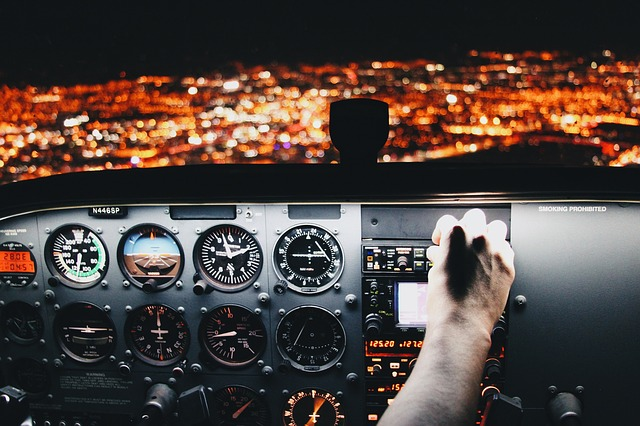 Airplane, Airline, Aircraft, Travel, Trip, Pilot, Night